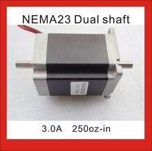 NEMA 23 Stepper Motor Dual Shaft 180 N.cm (250 oz-in) Body Length 76 mm CE ROHS 6.35mm Dual Shaft NEMA 23 Stepping Motor цена в Москве и Питере