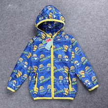 Promotion 2016 Spring Brand Fashion Children Boys Jackets Coats Windbreaker Cartoon Casual Sport Suit Kids Outerwear Clothing