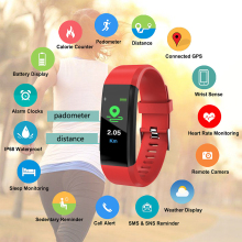 Bluetooth Smart Bracelet Heart Rate Monitor Blood Pressure Fitness Watches Sleep Tracker Pedometer Wristband