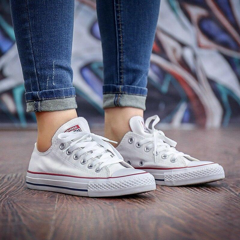 Converse All Star unisexe chaussures de skateboard hommes Sports de plein air décontracté classique toile femmes Anti-glissant baskets chaussures basses - 4
