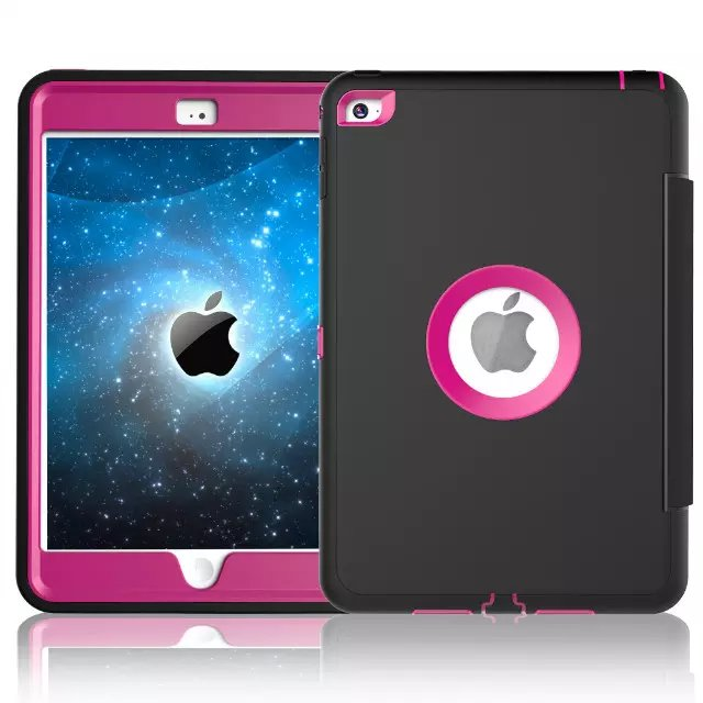 For Apple iPad mini 4 Case Cover Retina Kids Safe Armor Shockproof Heavy Duty Silicone Hard Case 3 PCS Free Gifts (10)