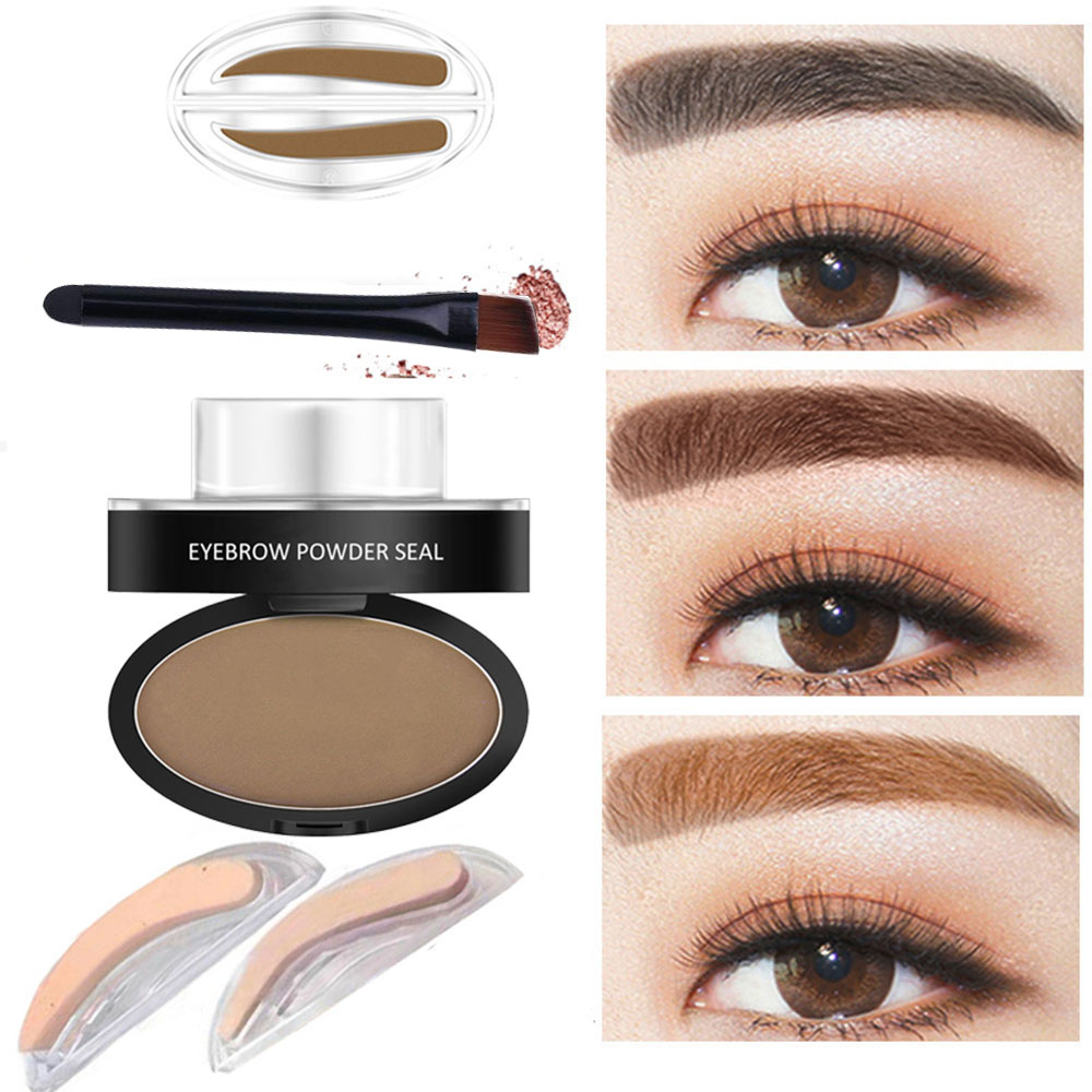 New Korean Eyebrow Powder Stamper Seal Pencil Thrush Artifact Stencil For Beginners