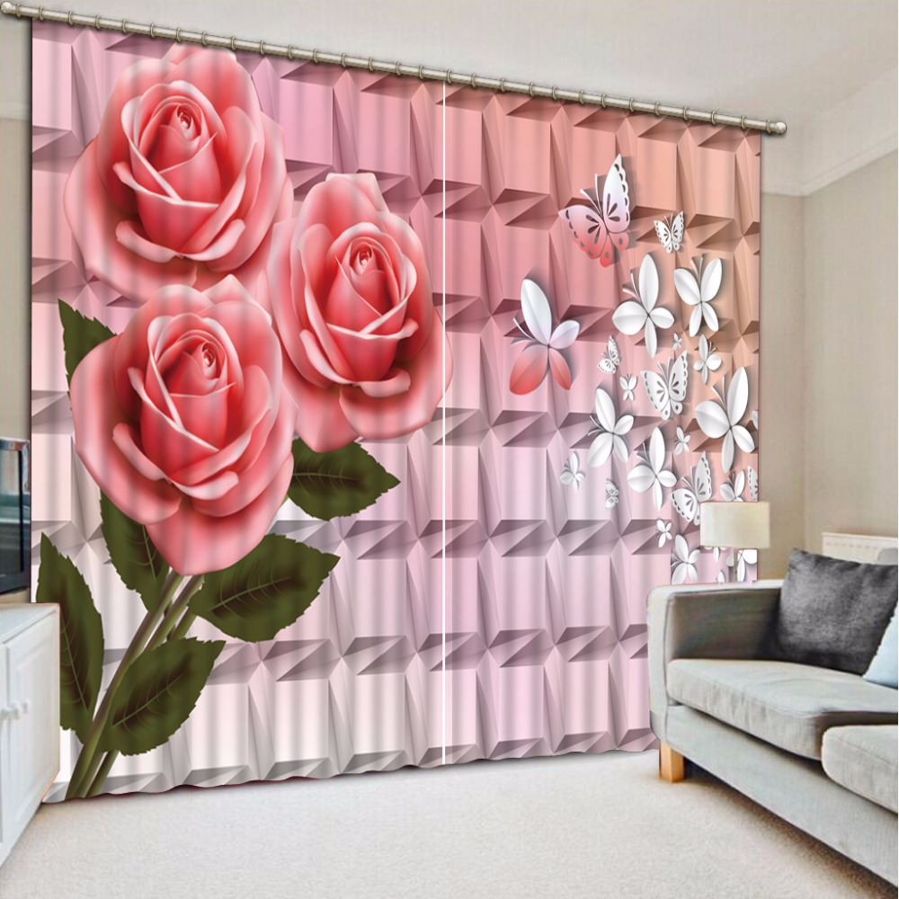 Modern Kids Curtains rose fashion Sheer Curtains For Living Room Bedroom Marriage room Window Blackout CurtainModern Kids Curtains rose fashion Sheer Curtains For Living Room Bedroom Marriage room Window Blackout Curtain