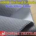 As ondinhas da água impressão tecido oxford 600D * 600D ployester 68 T com revestimento do PLUTÔNIO revestimento protetor