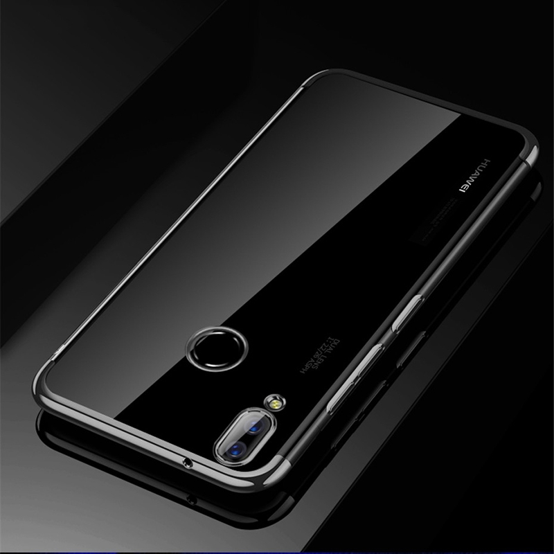 new style 97e3a 912df For Huawei P Smart Plus Case Protective Cover Soft Silicon Transparent  Plating Case For Huawei P Smart Plus Case Cover Bumper