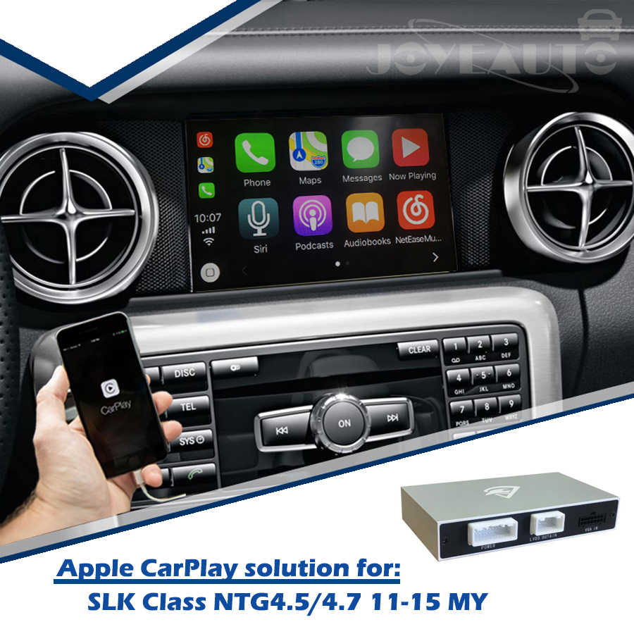 ZHOYITO Aftermarket Mercedes SLK class 2011-2015 NTG4 5/NTG4 7 Apple  Carplay Android Auto box Retrofit with Rear View Camera