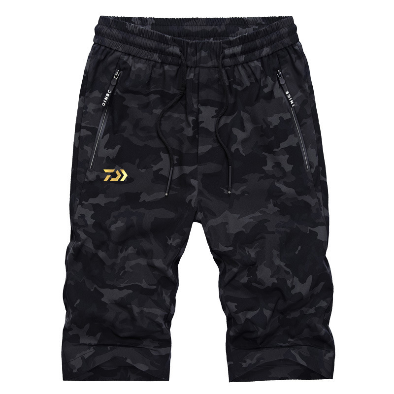 Camouflage Shorts 2019 New Brand Daiwa Fishing Pants Summer Breathable Mens Fishing Clothes Outdoor Sport Pants Hiking Camping