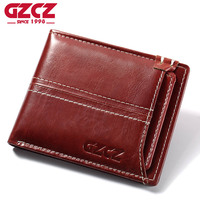 GZCZ Women Wallet Female Coin Purse Small Vintage Genuine Leather Vallet Mini Money Bag Portomonee Lady