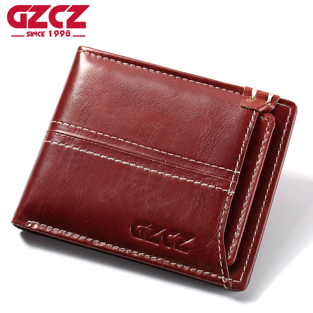 GZCZ Women Wallet Female Coin Purse Small Vintage Genuine Leather Vallet Mini Money Bag Portomonee Lady Walet Card Holder Slim