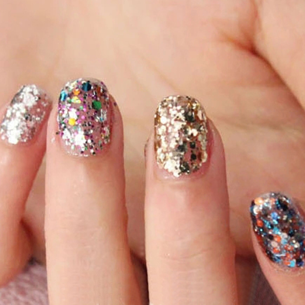 Candy Lover 12pcslot Shiny Sparkly Sequin Hexagon Glitter Acrylic