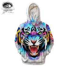 a46ef75e9141 Geheimnisse design Durch Pixie kalte Kunst 3D Tiger Hoodie Männer Zip Hoody  Anime Sweatshirt Reißverschluss Trainingsanzug Pullo.