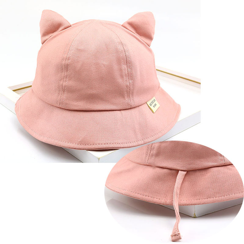 2019 Latest Design 2019 Baby Hats New Fashion Cute Cartoon Cat Basin Cap Korean Spring And Summer New Fisherman Hat Beanies Kids Photography Props