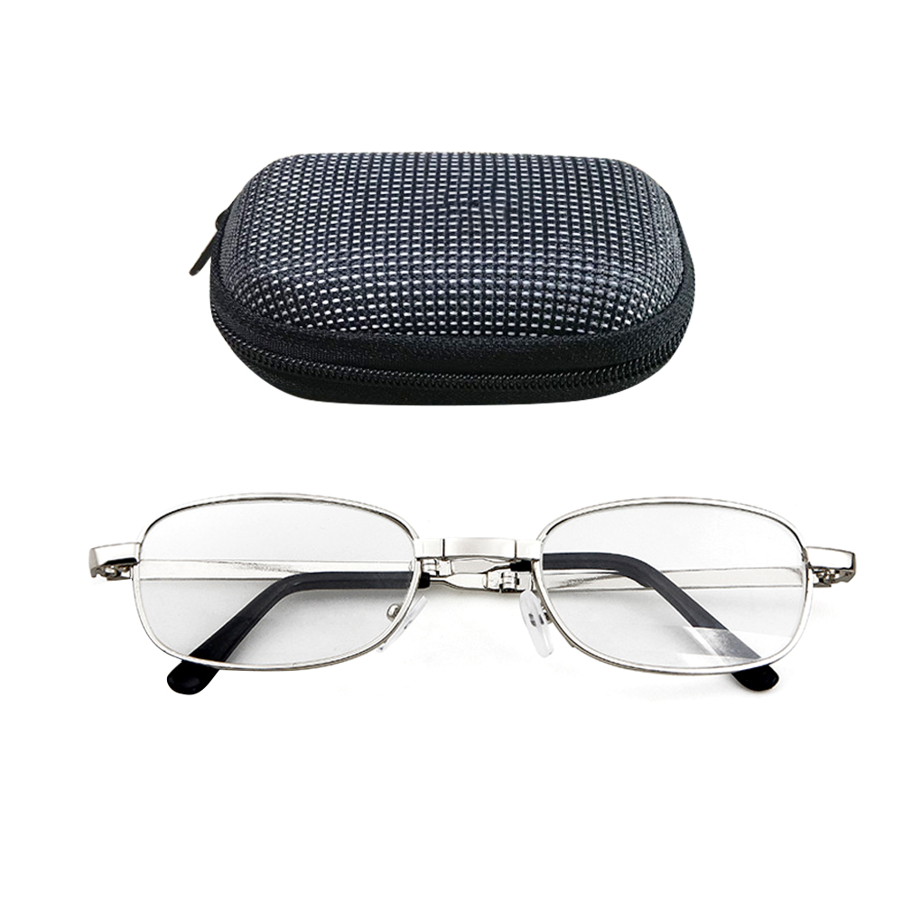 100/150/200/250/300/350/400 Degree Lens Portable Folding Reading Glasses Presbyopic Magnifying Glasses Eyewear With Case