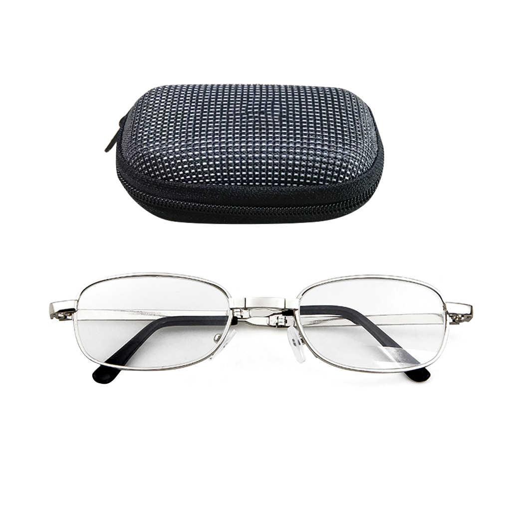 100/150/200/250/300/350/400 graus lente portátil dobrável óculos de leitura presbiopia lupa óculos eyewear com caso