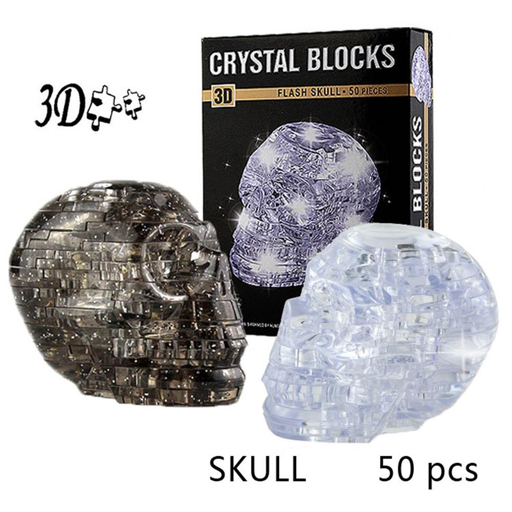 LeadingStar 3D Crystal Puzzle DIY Jigsaw Assembly Model Gift Toy Skull Skeleton New Sale 3d jigsaw paper hero style puzzle block assembly toy
