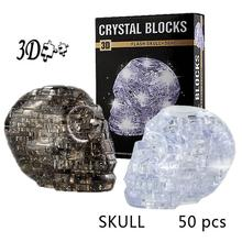 LeadingStar 3D Crystal Puzzle DIY Jigsaw Assembly Model Gift Toy Skull Skeleton New Sale