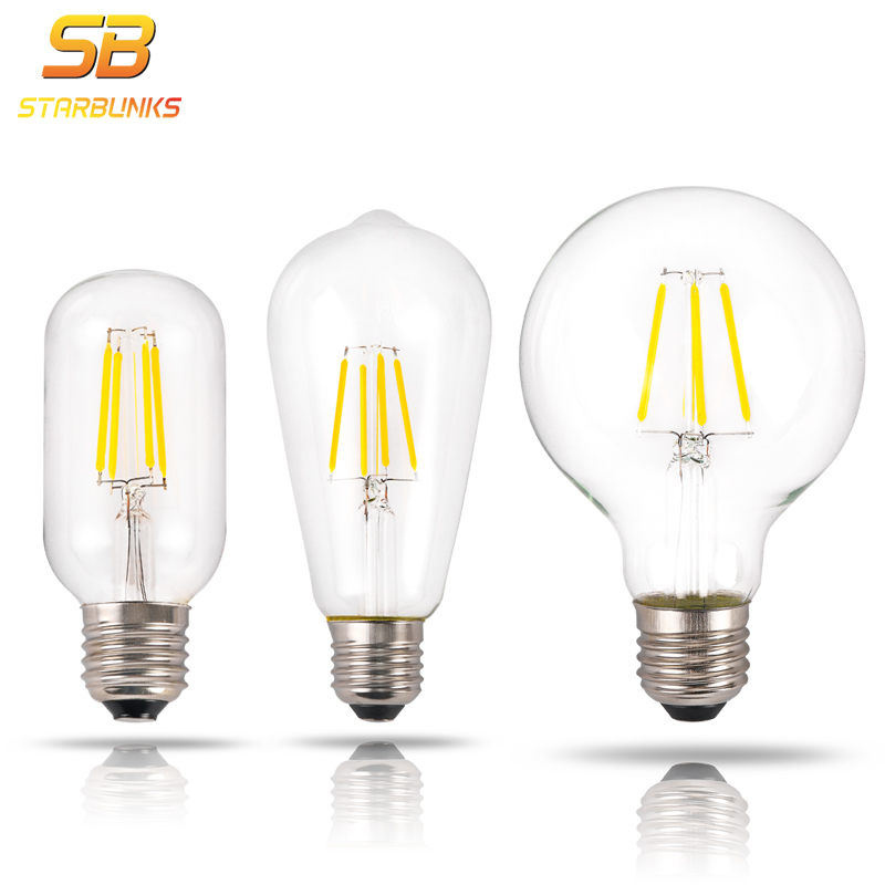 STARBUNKS Led lamp G95 Golden Light Bulb E27 Retro Edison Filament Energy Saving Lamp Replace Incandescent Bulb For home Lampara