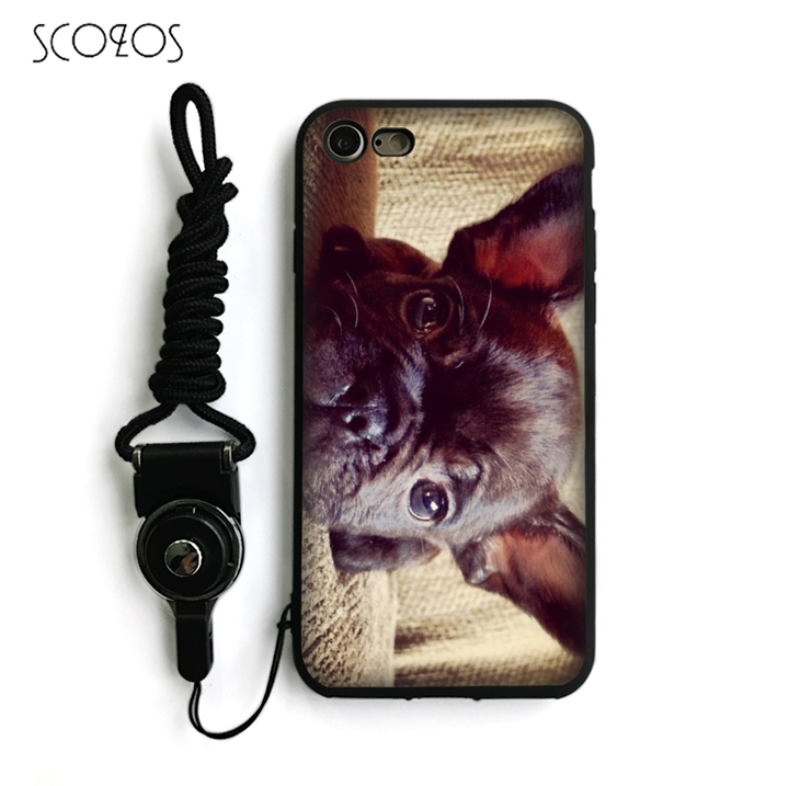 SCOZOS french bulldog Silicone TPU Phone Case Soft Cover For IPhone X 5 5S Se 6 6S 7 8 6 Plus 6S Plus 7 Plus 8 Plus #nb123