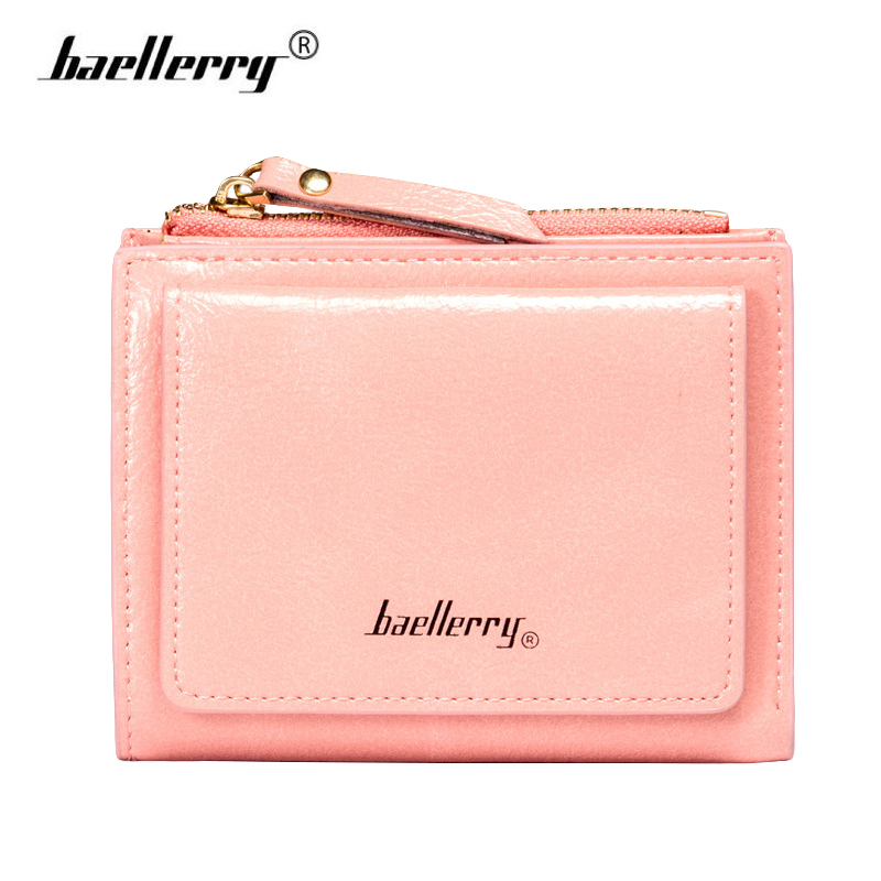 Baellerry Cute Leather Wallet Women Small Wallets for Credit Cards Holder Female Purse Clutch Coin Dollar Price Money Bag Purses 100% wax oil cowhide vintage wallets female money clips real leather clutch wallet for women credit cards change purses 2014 new