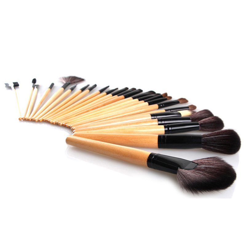 Professional Makeup Brushes 32 pcs Cosmetic Kit Eyebrow Blush Foundation Powder Make up Brush Set With Black Case 24pcs makeup brushes set cosmetic make up tools set fan foundation powder brush eyeliner brushes leather case with pink puff