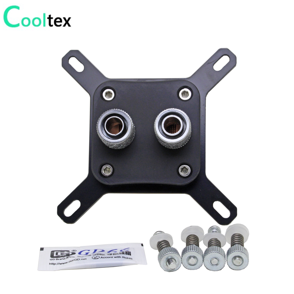 цены (Special offer) CPU Water Cooling BLOCK Cooler Computer watercooled block For Intel LGA775/1155/1156/1150/1366 heat dissipation