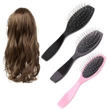 Profissional anti escova de pente de aço estático para a cabeça de treinamento das extensões do cabelo da peruca