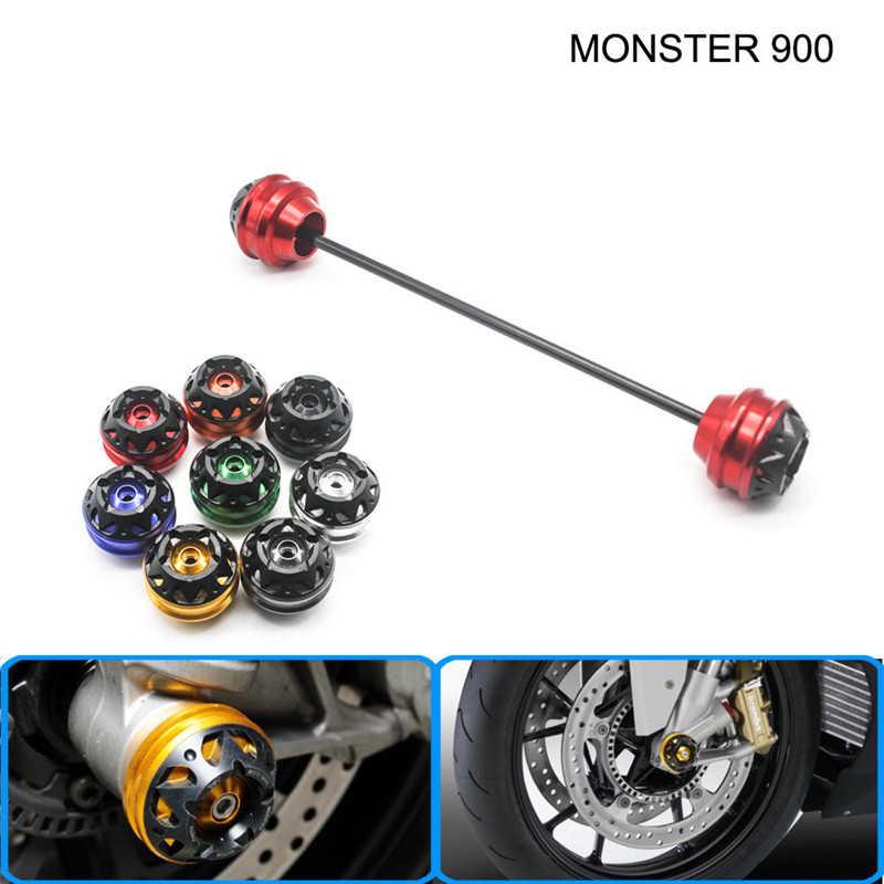 Free shipping For Ducati MONSTER 900 2001-2003 CNC Modified Motorcycle Front and rear wheels drop ball / shock absorber free delivery for ducati monster s4r 2003 2008 cnc modified motorcycle drop ball shock absorber