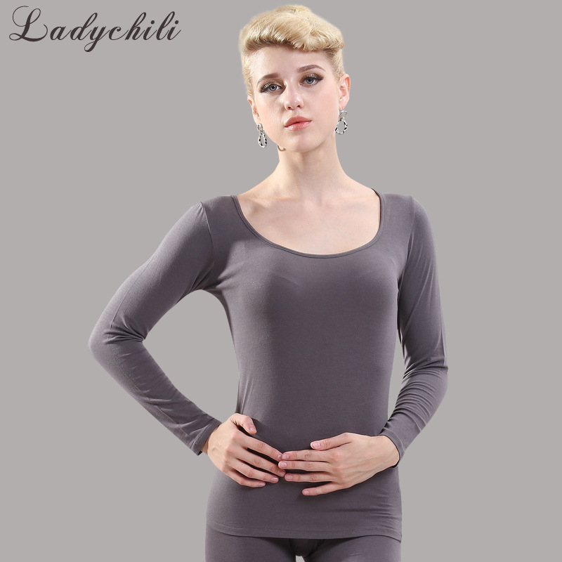 Ladychili Women Intimates Cotton Spandex Long Johns Heated Winter Keep Warm Top And Long Panties Thermal Underwear Clothing K9