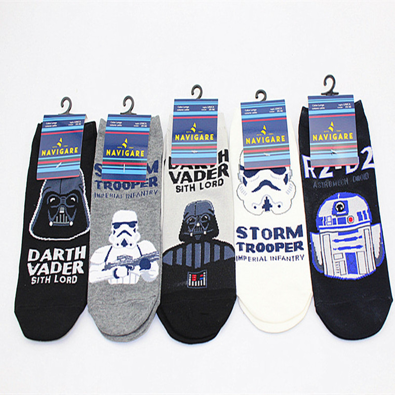 Star Wars storm troops BB8 robot   sock   Personality fashion Casual Mans Cotton cartoon   sock   Comfortable breathable happy crew   sock