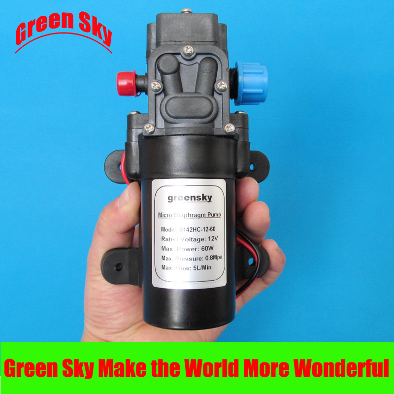 5L/Min 12V DC 60W return valve type high pressure micro diaphragm water pump popular sale 30w small diaphragm return valve type 12v high pressure water pump