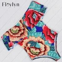 Floylyn 2017 Sexy Off The Shoulder Print Floral Swimwear Women One Piece Swimsuit Bathing Suit Ruffle