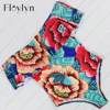 Floylyn 2017 Sexy Off The Shoulder Print Floral Swimwear Women One Piece Swimsuit Bathing Suit Ruffle