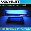 Free shipping 110V-- 220V 48W UV Lamp Curing Light with Handle, LOCA UV Glue Dryer for Refurbish LCD ,YAXUN UV gel LAMP