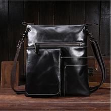 Leather Men Crossbody Bags Ipad Men's Shoulder Bag Cowhide men messenger bags
