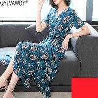 100% шелковое летнее платье 2019 винтажное корейское миди синее платье женское офисное элегантное платье с поясом женские платья Vestidos MY2990