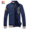 2017 spring autumn new Air Force One jacket male fashion casual Slim jacket Embroidery lapel Thin section jacket coat