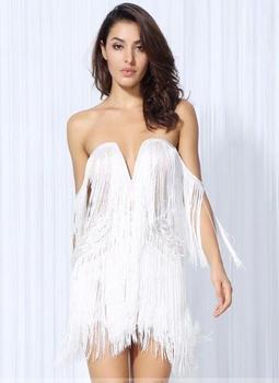 Halter V Neck Short Dress Women Sleeveless Tassel Summer Dress Backless Boho Dress Vestidos Streetwear Gathering Dresses