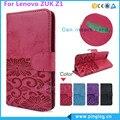 Para lenovo zuk z1 case style monedero pu funda de piel para lenovo zuk z1 estilo del soporte con soporte de la tarjeta 4 colores envío gratis