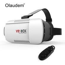 Vr Очки Google cardboard виртуальной реальности 3D Очки коробка 2.0 версии гарнитура + Bluetooth 3.0 пульт дистанционного управления VR118