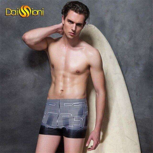 ac45dd3eb8 Quick Dry Swim Gym Shorts Men Beach Wear Striped Man Swimwear Jammer Mens  Swimming Trunks Boys Bathing Suits Sexy Male Swimsuits