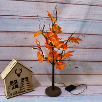 20Led Tree Light Assorted Mixed Fall Colored Artificial Maple Leaves light for Home Decor Weddings Table Party Decorating