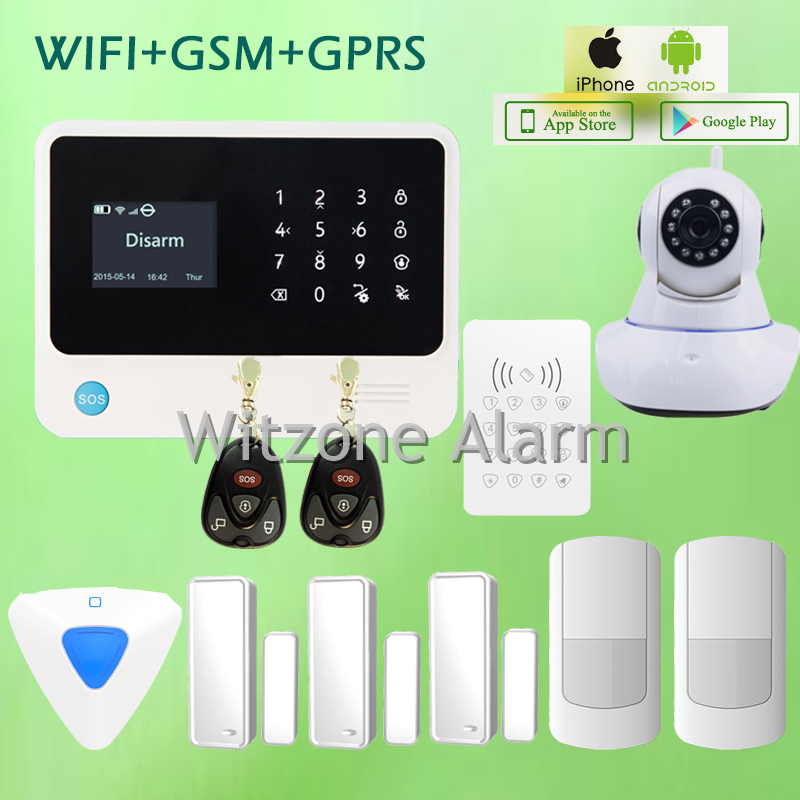 WIFI alarm G90B wireless gsm wifi gprs security alarme systems android app control, English/Spanish/Russian language optional arduino atmega328p gboard 800 direct factory gsm gprs sim800 quad band development board 7v 23v with gsm gprs bt module