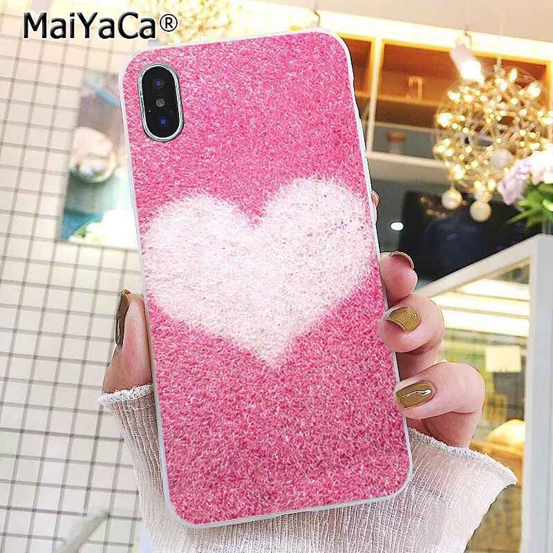 MaiYaCa Love Heart Gold Rose Marble Stripes  Phone Case For iphone 11 Pro 11Pro MAX 8 7 6 6S Plus X XS MAX 5 5S SE XR 10 Cases
