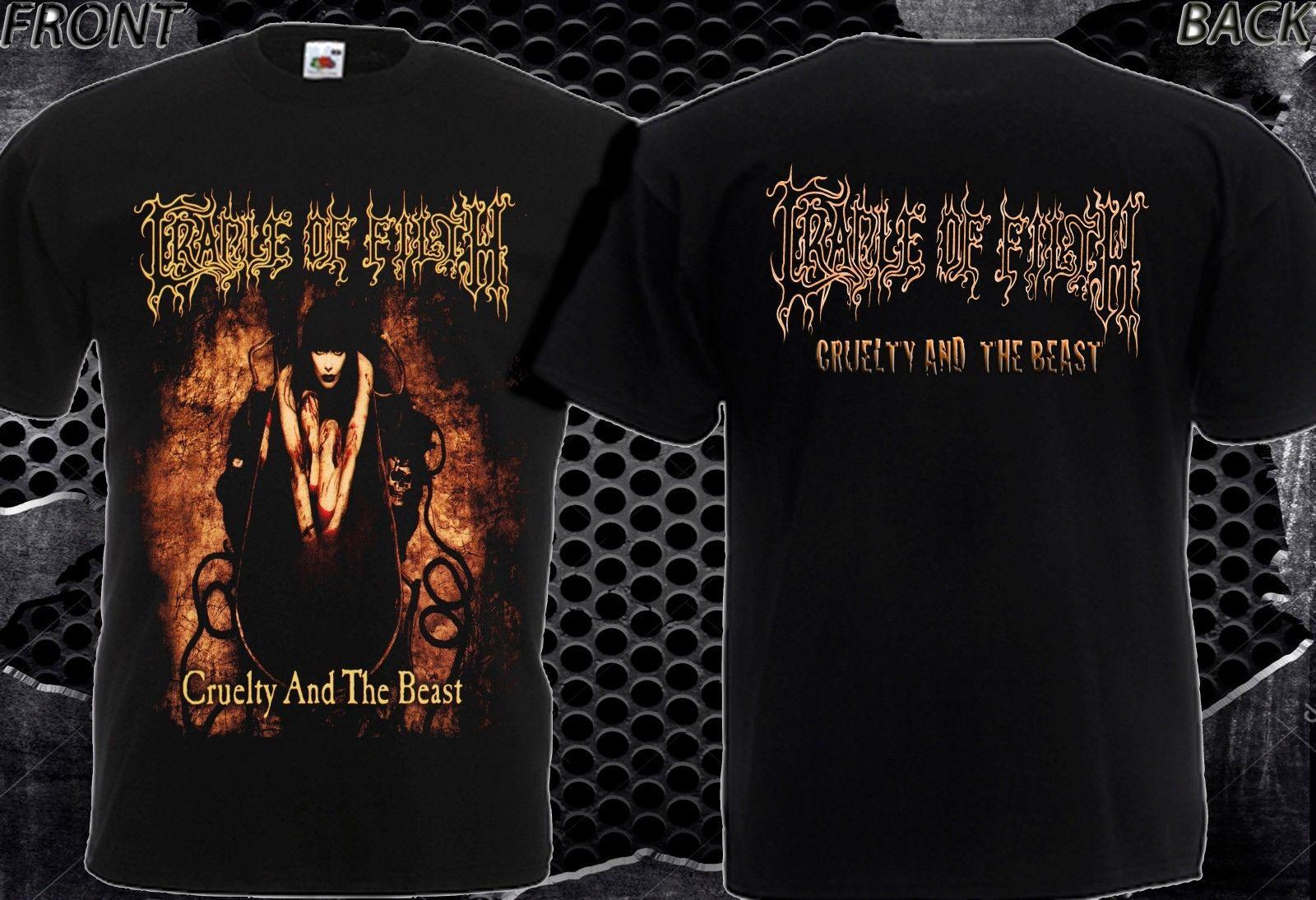 Aus Dem Ausland Importiert Cradle Of Filth Cruelty Und Das Biest-neue Shirt MÄnner-dtg Gedruckt T Size-s/7xl