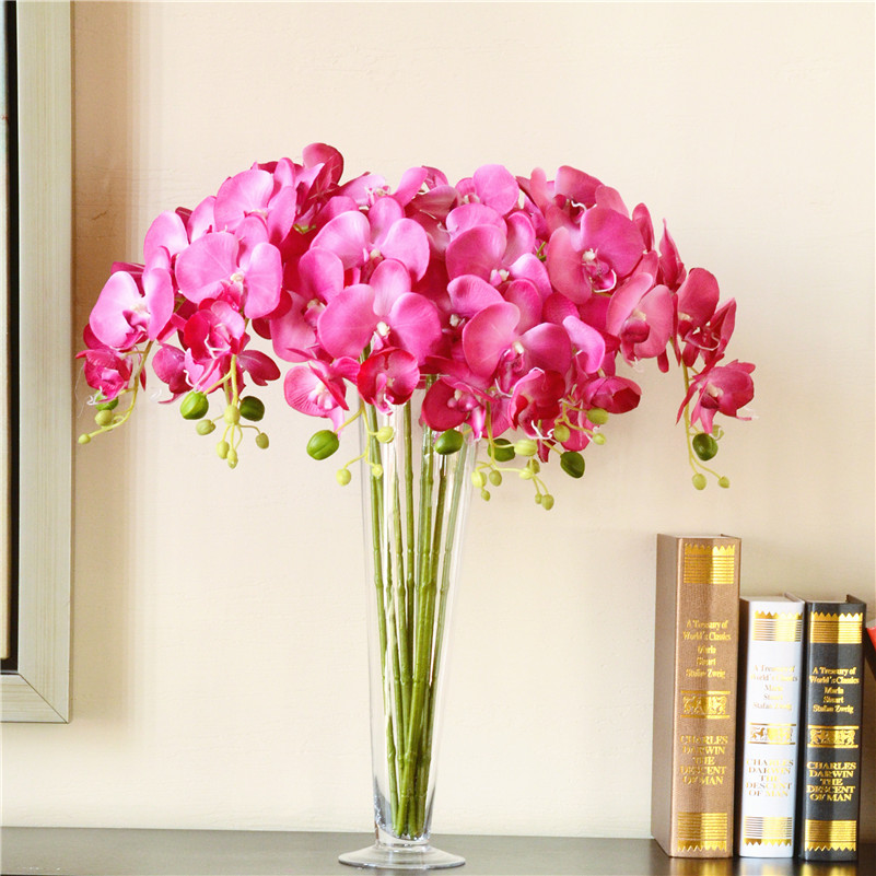 Phalaenopsis Orchid Artificial Flowers Creative Home Decoration Living Room  Office Decorations