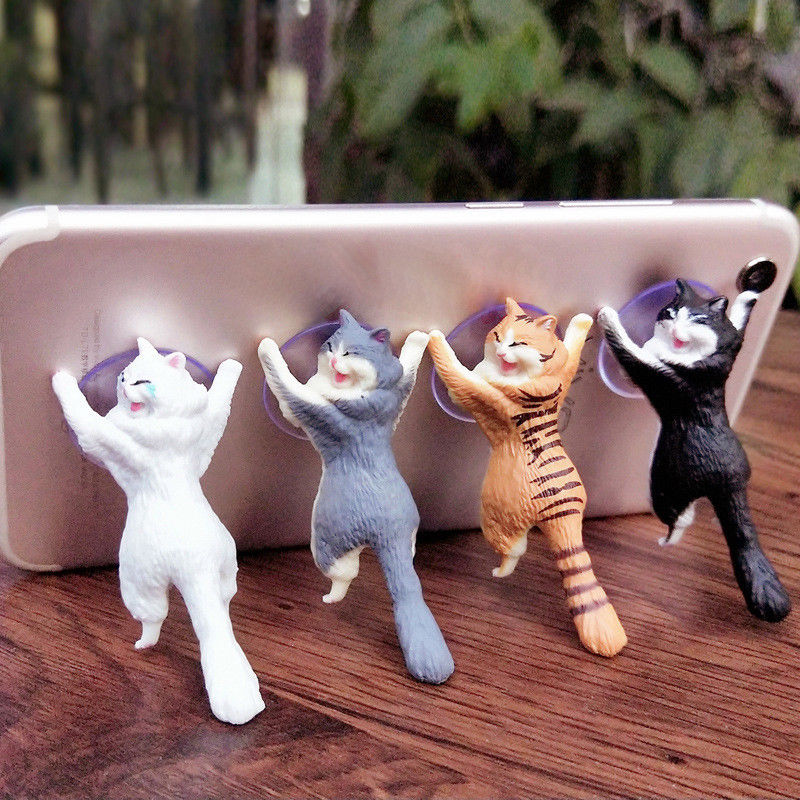 Pop Universal Cute Cat Toy Cell Phone Holder Standing