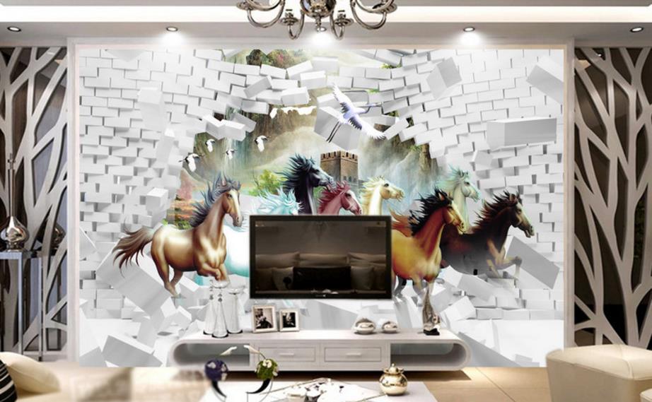 Foto Wallpaper Istirahat Kuda Yang Dinding Kertas