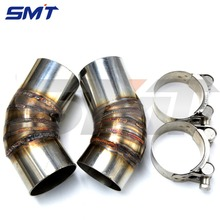 stainless steel motorcycle middle of the exhaust pipe new motorcycle exhaust pipe For ducati monster 796 2013