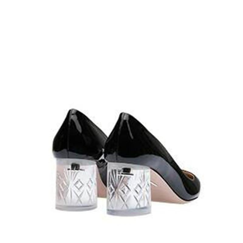 Zapatos Cuero Tacones Transparente Negro Mstacchi Cristal Dama pink Rosa Mujeres Punta Boda Verano Las silver De 2019 Patente Mujer Black xwPqrpgP70