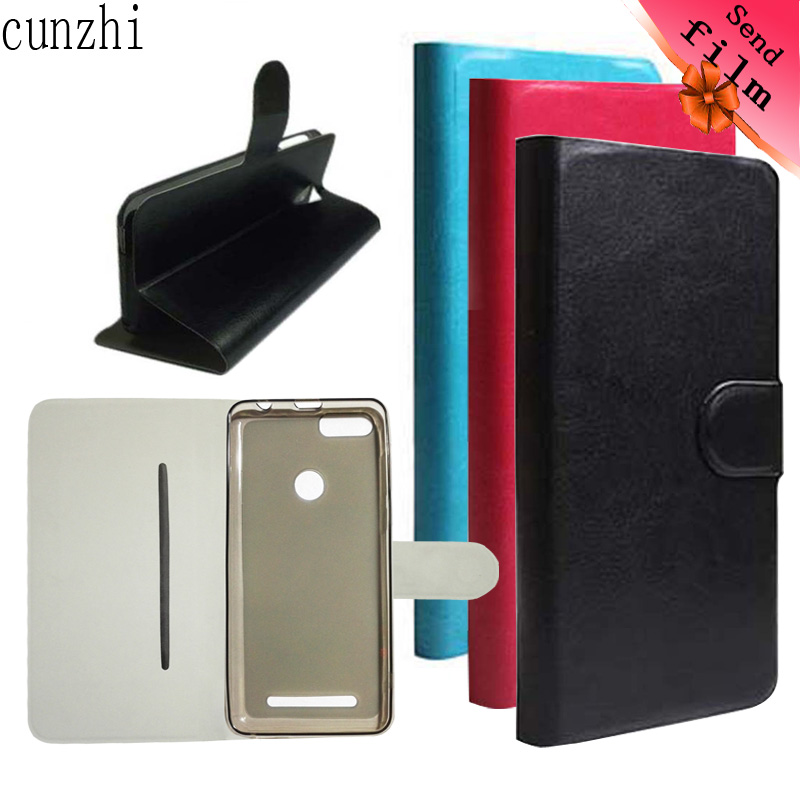 Cunzhi Leagoo Kiicaa Power Fall, Softshell Innen + Pu-leder Flip-Cover Für Leagoo Kiicaa Power (Geschenk Displayschutzfolie)